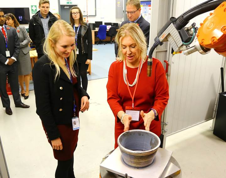 Nadine Dorries MP visits Lockheed Martin UK to promote engineering careers in Bedfordshire